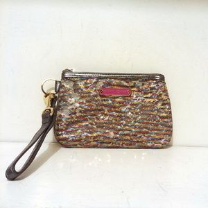 Betsey Johnson Multi Color Sequined Wristlet